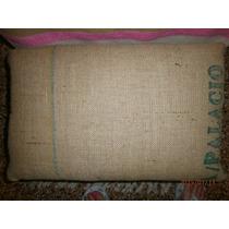 Banquito De Madera,arpillera,diseño Personalizado Apoya Pie