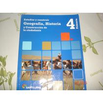 Estudiar Y Construir Geografia, Historia 4 Santillana