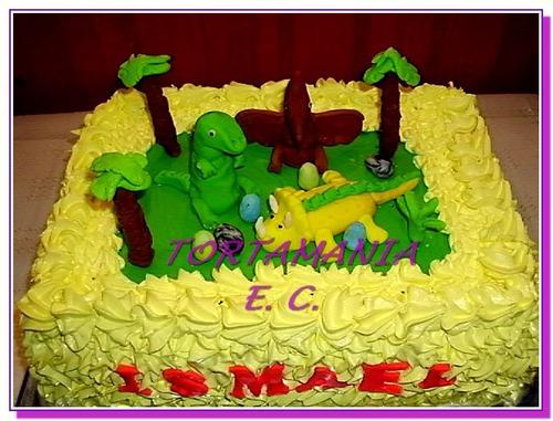 Baño Para Torta Infantil:Torta Dinosaurios, Baño Merengue Y 3 Figuras precio X Kilo – $ 430