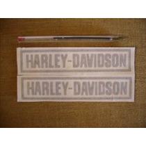 Tun 2 Adhesivos En Vinilo Harley Davidson Color Griz Mate