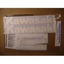 Tun Adhesivos Kawasaki 5 Piezas En Blanco