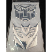 Sticker Adhesivo Logo Autobot Transformer Aluminio 7cm .x1