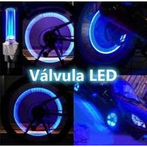 Tapa Valvula Led P/ Rueda Bici Moto Auto Tuning .x Par