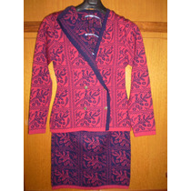Traje Tejido En Composé (chaqueta Y Pollera)