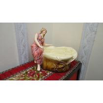 Figura Dama Mayolica Antigua De Principio De Siglo Veala