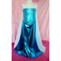 Vestido Elsa Frozen Disfraz Niña Por Encargo Hermosa Calidad