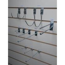 Ganchos Exhibidores Para Panel Mdf Ranurado Y Perforado