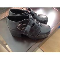 Zapatos Tipo Sandalia De Plataforma,negros Muy Cómodos