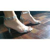Sandalias Plateadas De Dama Lolita Talle 37!!