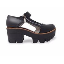 Zapato Plataforma Dama En Cuero Marcel Calzados
