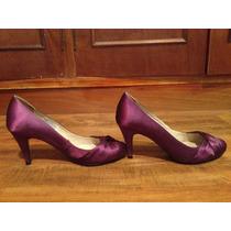 Zapatos C/taco Zara. Talle 39, Color Lila. Muy Cómodos!