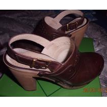 Sandalias,plataformas Zapatos Marco Donatti Cuero Legitimo38
