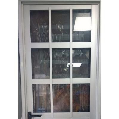 Puerta de aluminio reforzada de 070 x en for Cuanto sale una puerta