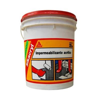 Impermeabilizante acrilico sika 20kgs rodillo for Pintura impermeabilizante sika