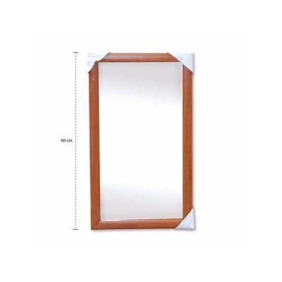 Espejo rectangular con marco de madera en color de colgar for Espejo rectangular con marco de madera