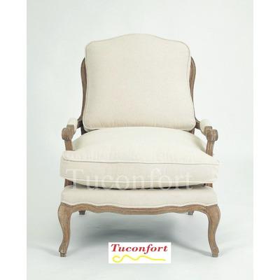 Sillon silla butaca poltrona roble estilo frances nuevas for Poltronas en montevideo