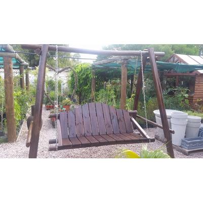 Hamaca de jardin muebles juegos en troncos en madera - Hamaca de jardin ...