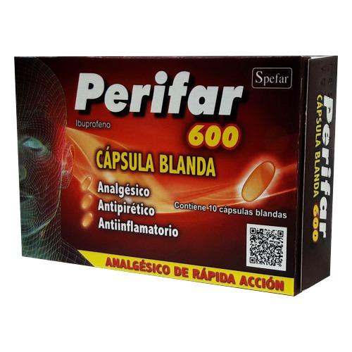 Perifar 600 Mg 10 Cápsulas Blandas