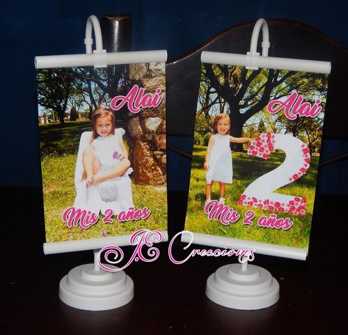 Mini Banner Personalizados Souvenirs Centros De Mesa Fiestas