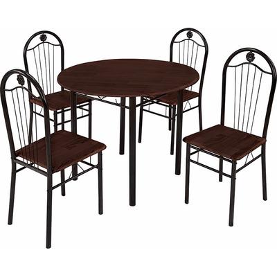 Juego de comedor mesa y 4 sillas en madera y ca o oferta for Juego comedor oferta