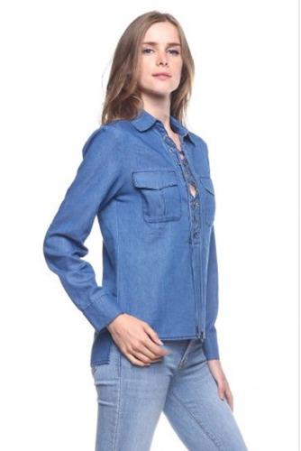 Toqe - Camisa Jean Trenzada