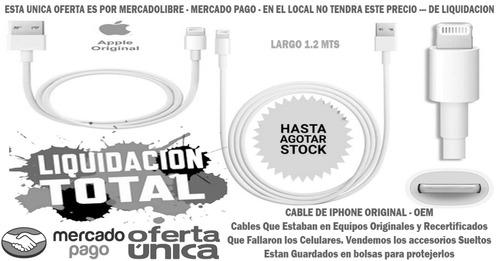 Cable Original Usb Para Iphone 5 5g 5s 6 7 Dato Carga